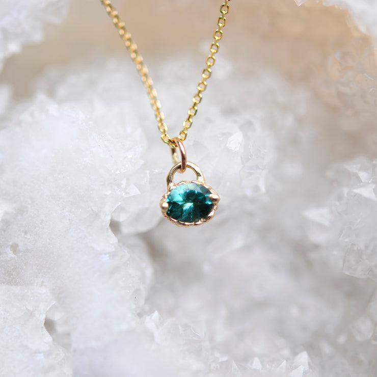 Textured Teal Necklace