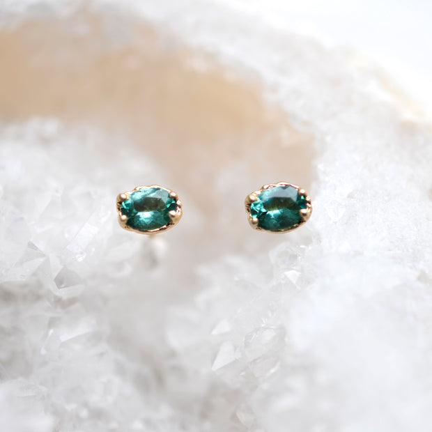 Textured Teal Studs