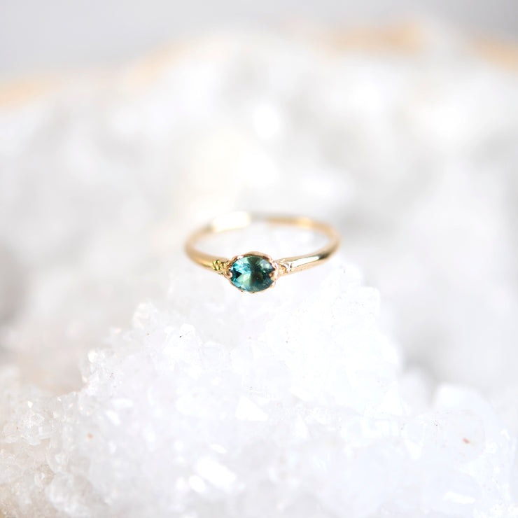 Textured Teal Ring