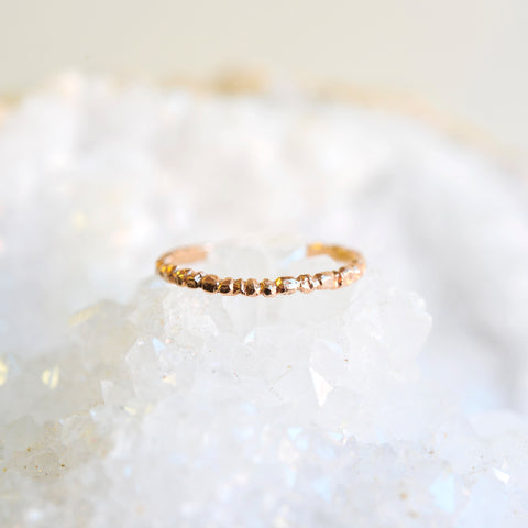 Textured Stacker 14k Rose Gold