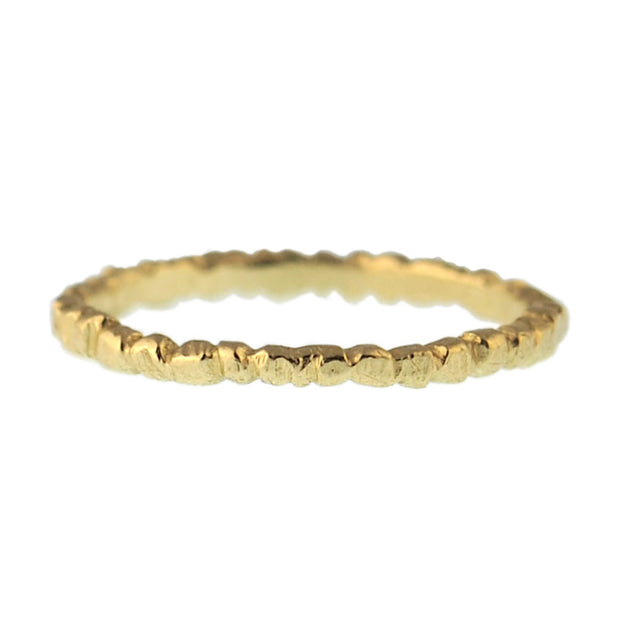Textured Stacker - Gold