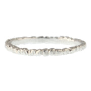 Textured Stacker - Silver