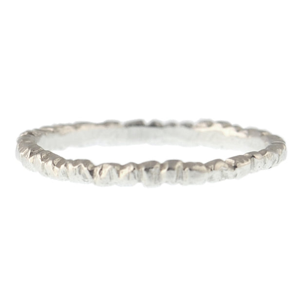 Textured Stacker Sterling Silver