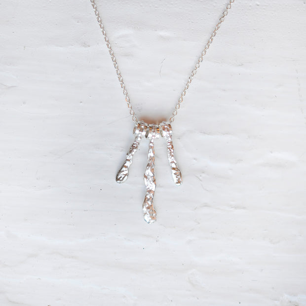 Small Waterfall Necklace - Silver
