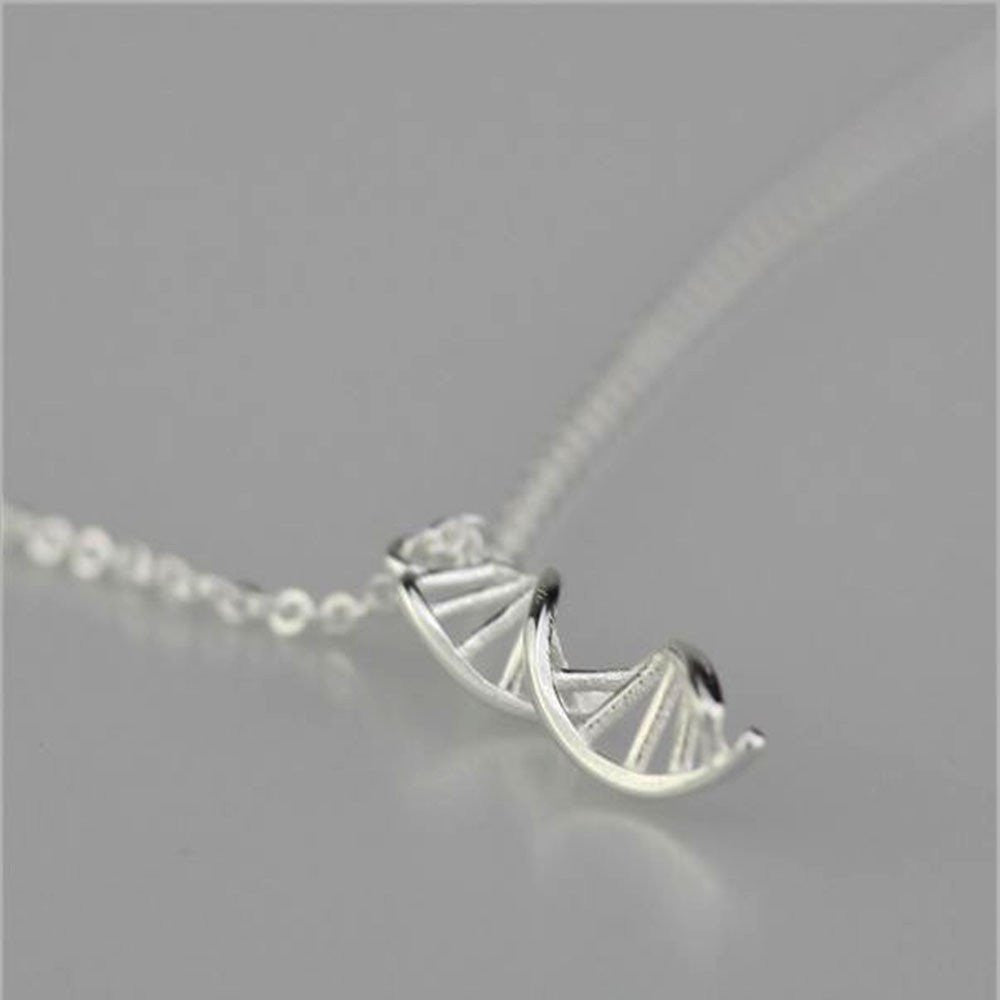 Sterling Silver 925 DNA Necklace-Necklace-Orizzon Store