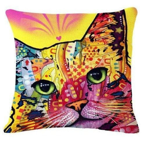 Cat Pillow Cover-Pillow Cover-Orizzon Store
