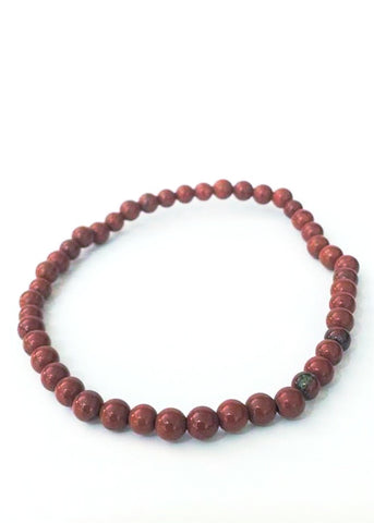Red jasper mini stacker bracelet - mineralism -