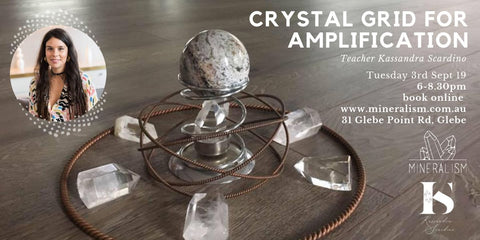 Crystal Grid for Amplification- Tuesday September 3rd