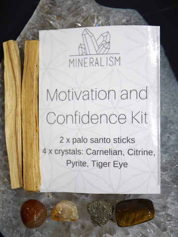 Motivation and Confidence Kit - crystal pack
