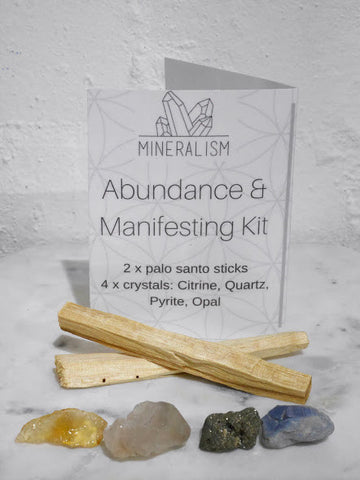 Abundance and Manifesting Kit - crystal pack