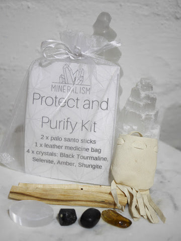 Protect and Purify Kit - crystal pack