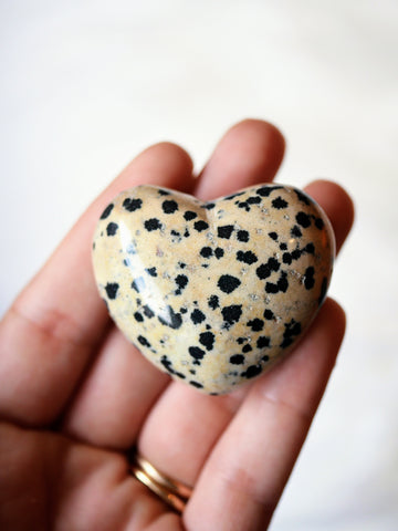 Dalmatian Jasper heart carving