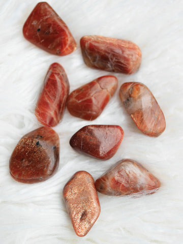 Sunstone tumbled stones (high grade)