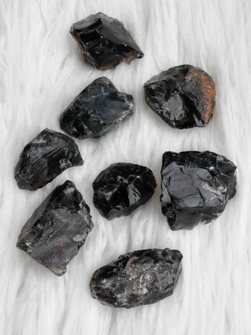 Smokey quartz rough chunks