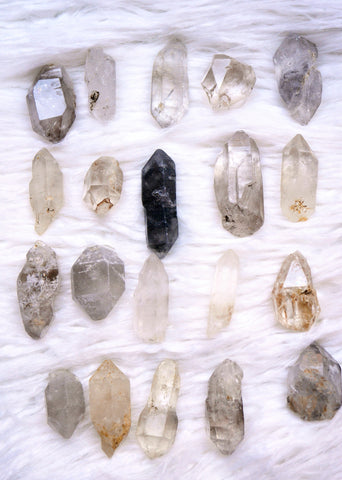 Rough natural quartz points