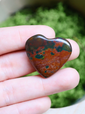 Bloodstone mini heart