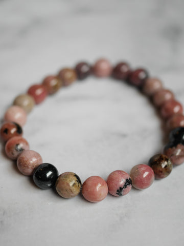 Rhodonite bracelet round 6mm