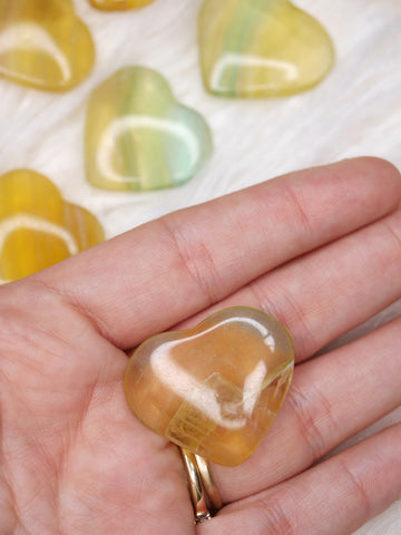 Yellow Fluorite mini heart