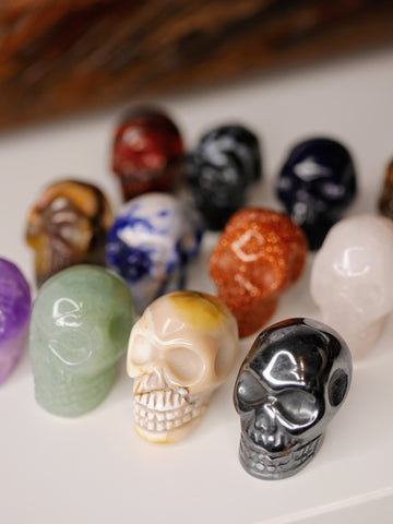 Mini skull carving