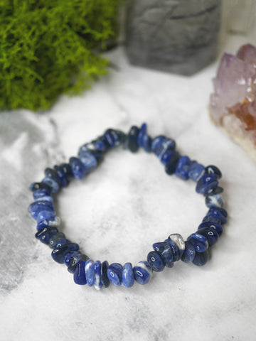 Sodalite polished chip bracelet