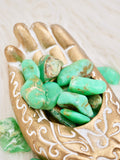 Chrysoprase tumbled stones (small)