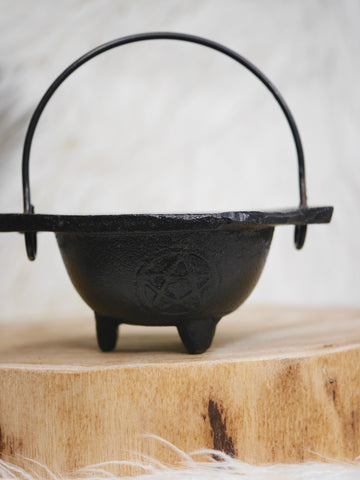 Cast Iron Pentagram dish Cauldron