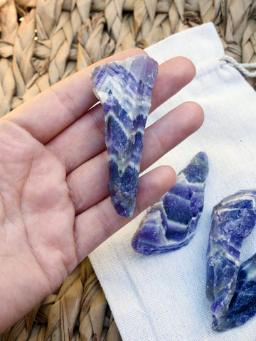 Chevron Amethyst Rough Large