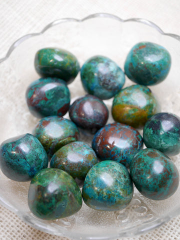 Large Chrysocolla Tumbled