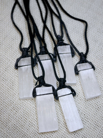 Chunky Rough Selenite Necklace
