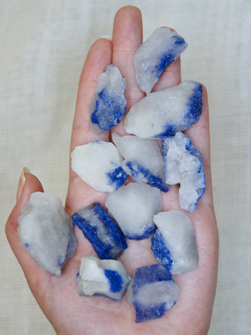 Dumortierite in Quartz Rough