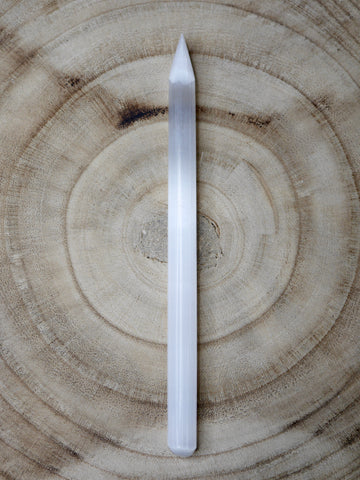 Selenite Cord-Cutting Wand