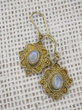 Brass Moonstone Earrings