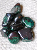 Malachite and Cuprite tumbled stone large