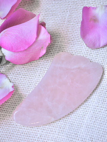 Rose Quartz Gua Sha Massage Tool