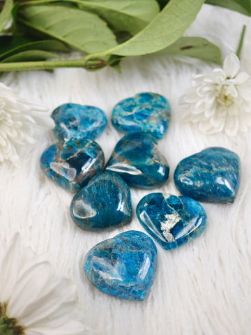 Small Blue Apatite Heart