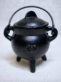 Cast Iron Pentagram Cauldron with lid