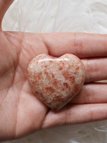 Sunstone heart carving