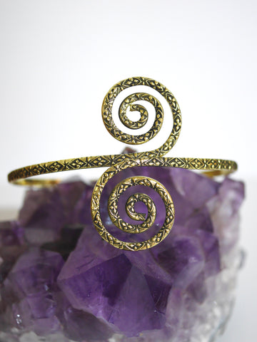 Spiral Brass arm band