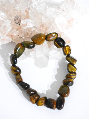 Tiger's eye tumbled bracelet