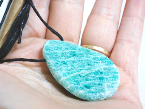 Amazonite drilled necklace
