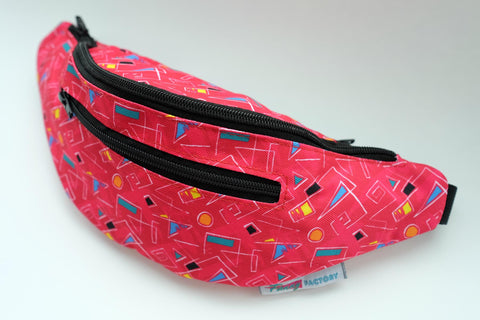 Cute Fanny Pack by Fanny Factory with Dark Pink Coloring and Punchy Design