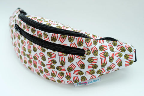 Fanny Pack with French Fries Pattern on It