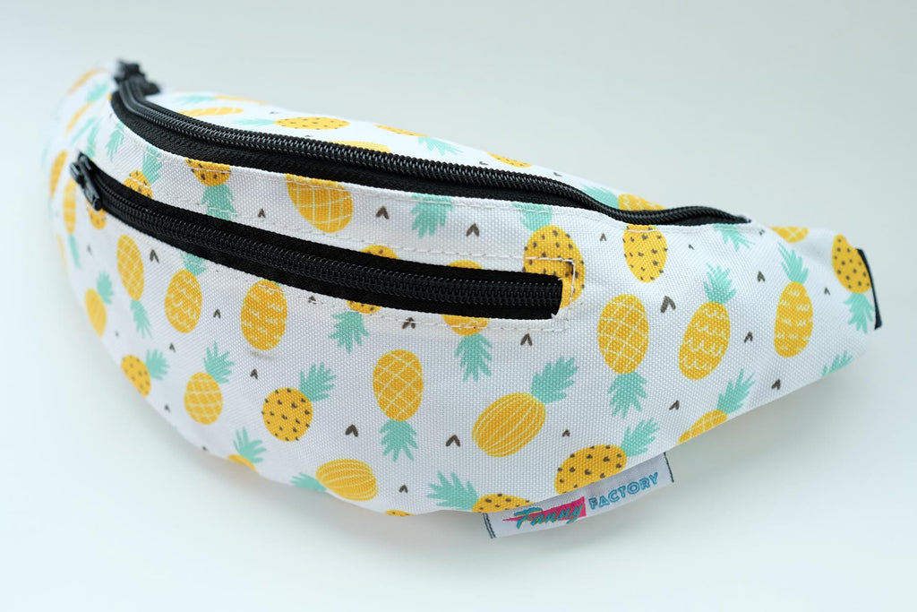 Tropical themed fanny pack with pineapples