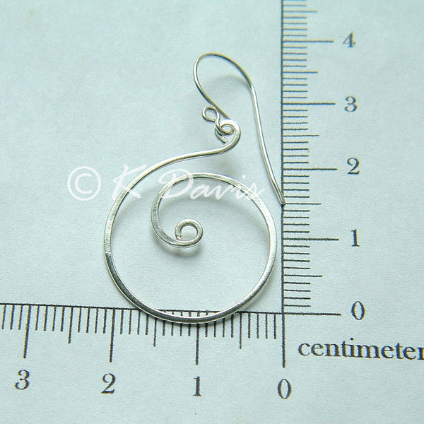 silver coil earring measurement