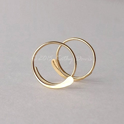 gold open hoops