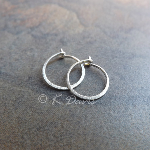 small silver hoop