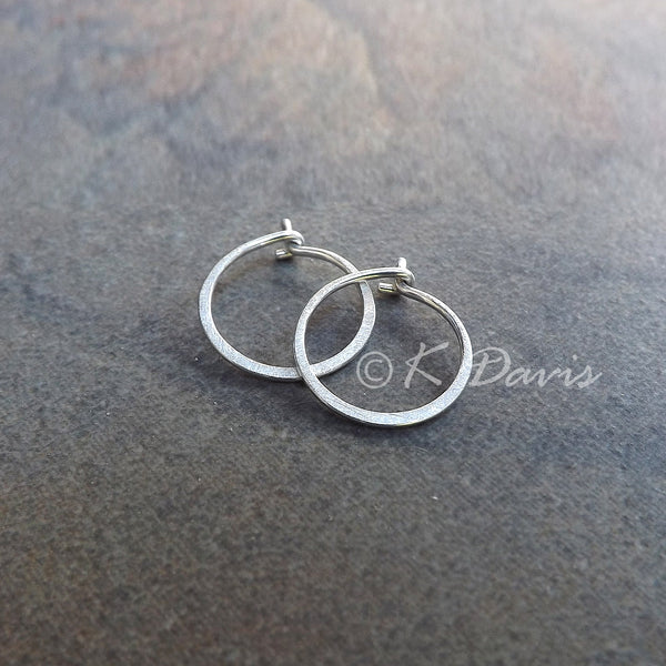 silver matte finish hoop