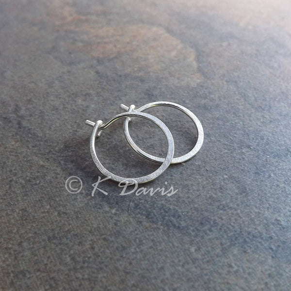 silver hoop earring small