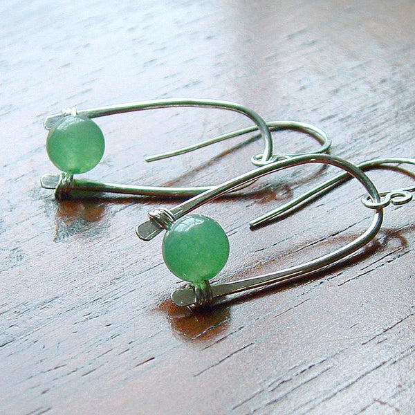 aventurine dangle earring