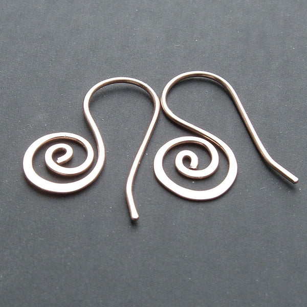 small silver coiled hoop